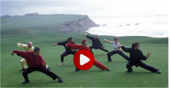 Tai chi group on cliff w player icon