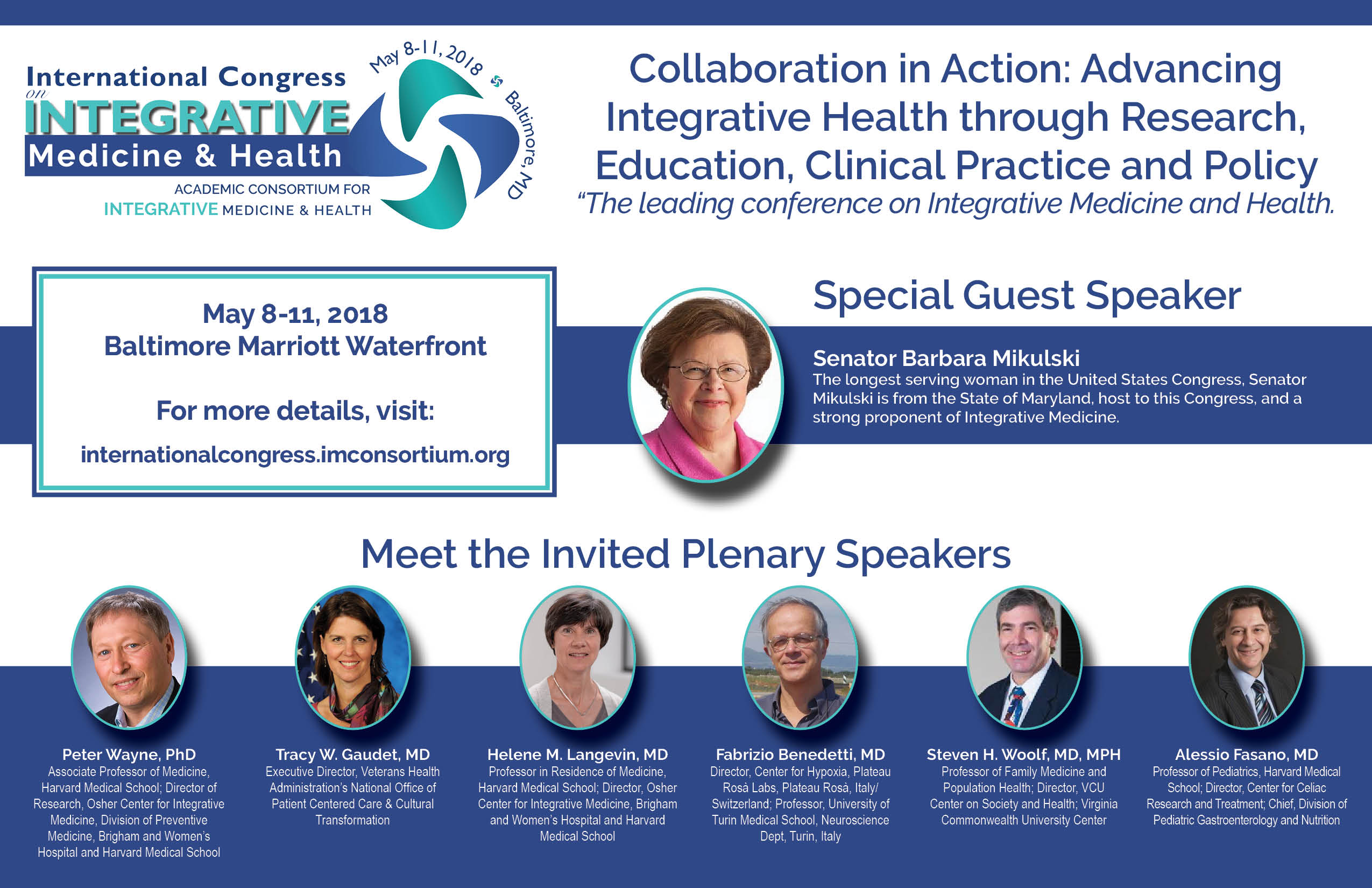 2018 International Congress on Integrative Medicine & Health
