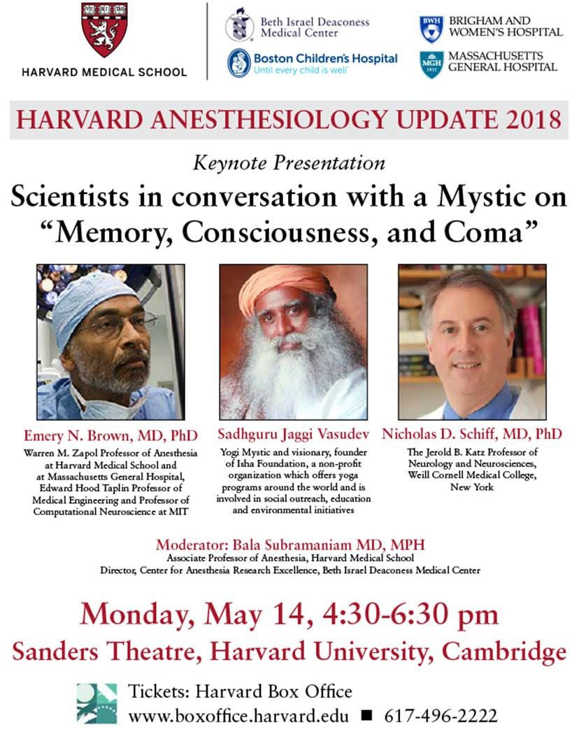 Harvard Anesthesiology Update 2018: Memory, Consciousness, and Coma