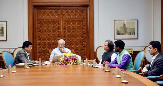 Narendar Modi meeting with Darshan Mehta